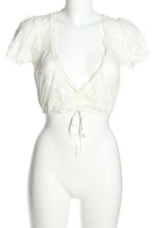 Me Lega Blusa folclórica blanco estilo clásico