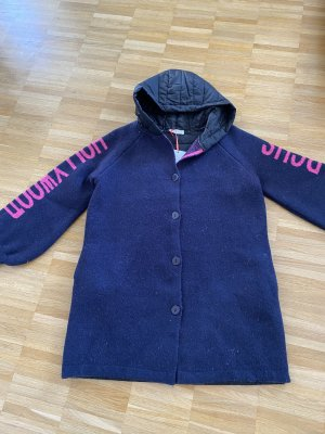 me & lou Hooded Coat dark blue-neon pink