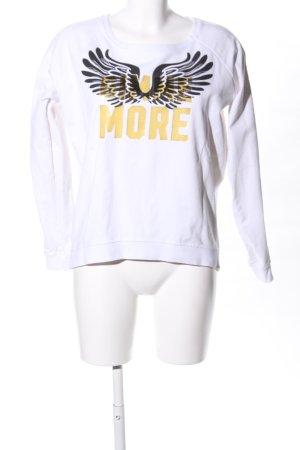 me & lou Sweatshirt weiß-schwarz Motivdruck Casual-Look