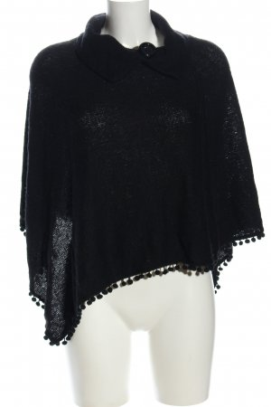 Me & Me Knitted Poncho black casual look
