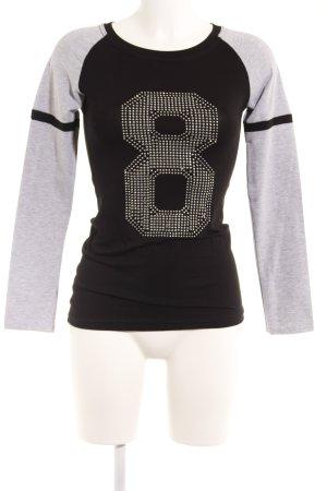 Me & Me Sweatshirt schwarz-grau Casual-Look