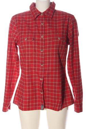me ru Chemise en flanelle rouge motif à carreaux style décontracté