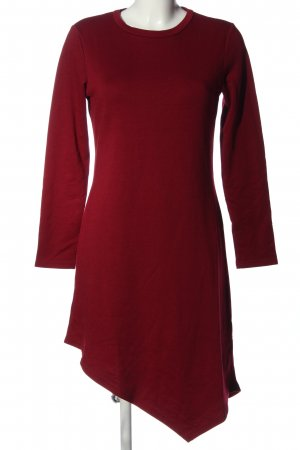 mea eor Robe bas asymétrique rouge élégant