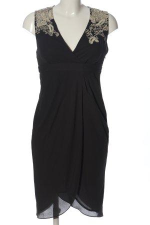 Meadow Rue Trägerkleid schwarz-creme Blumenmuster Elegant