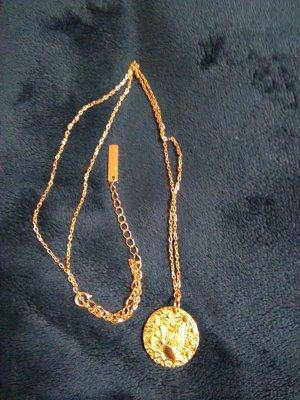 Medaillon Halskette, Sterling Silber 14kt gold gefüllt