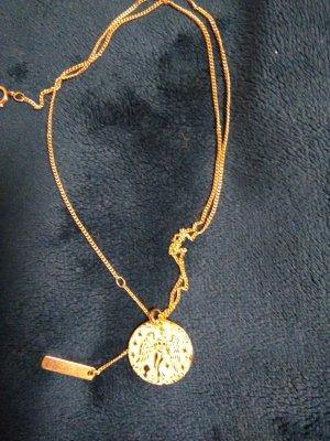 Medaillon Halskette, Sterling Silber 14kt gold gefüllt, kein Verblassen
