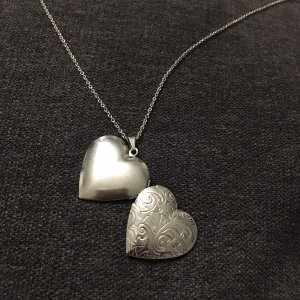 Medaillon Herz silber aus Edelstahl