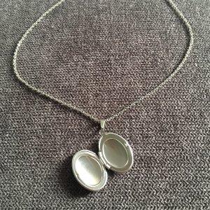 Medaillon Oval silber aus Edelstahl
