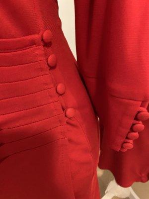 Madeleine Vestido cruzado rojo ladrillo