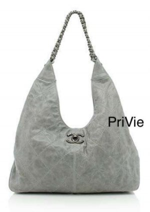 Chanel Schoudertas zilver-grijs