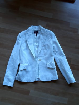 Mango Suit Blazer en tweed blanc