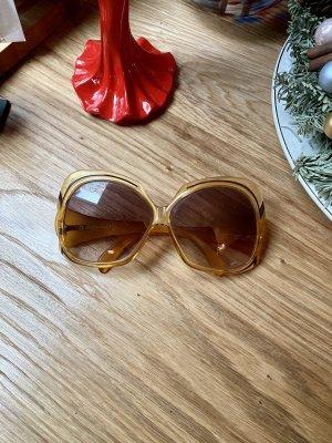 Christian Dior Gafas Retro naranja dorado-marrón oscuro