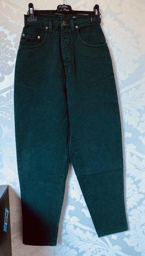 Vintage Hoge taille jeans donkergroen-bos Groen Denim