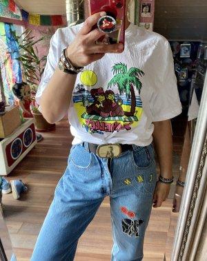 Mega cooles Original 90er Jahre True Vintage T-Shirt mit Affen Gr XXL
