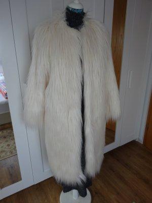 Reserved Cappotto in eco pelliccia bianco Poliammide