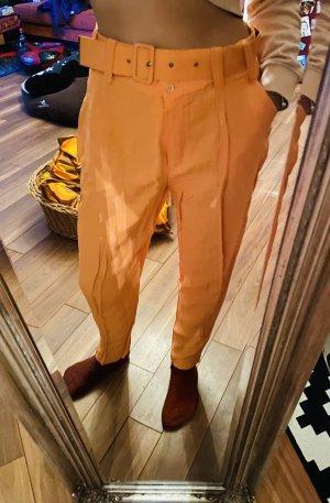 Mega geile Original 90er Jahre True Vintage High waist Stoffhose Hose Orange
