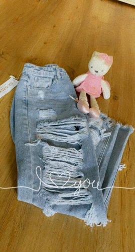 aus Italy Boyfriend jeans blauw Katoen