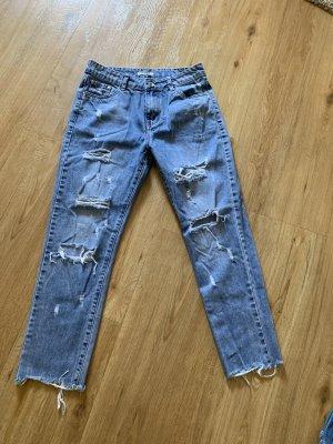 Workowate jeansy niebieski