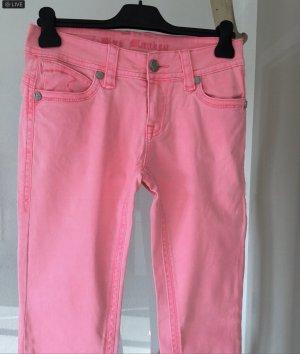 Mega Jeans ..  neonpink .. mit Reißverschluss .. Gr. 27/32 # Blue Monkey # Blogger