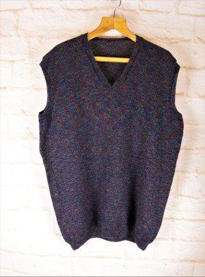 Handmade Długi sweter bez rękawów Wielokolorowy