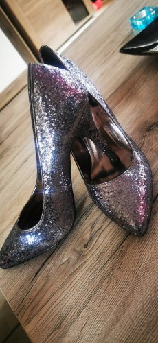 Anne Michelle Pointed Toe Pumps silver-colored-anthracite