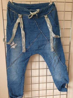 Made in Italy Pantalon «Baggy» bleu