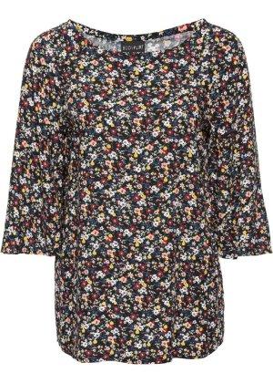 Mega schöne Blumen Bluse Blusen Tunika hochwertig 40 42 L XL für viele Anlässe Freizeit Business Blumen Blusen Tunika hochwertig 40/42 Achselbreite ca. 52 cm Länge ca. 67 cm Bodyflirt 100 % Viskose NEU