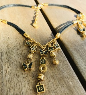 Dolce Vita Collar estilo collier negro-color oro