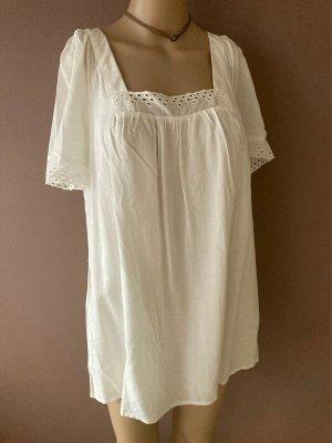 BODY FLIRT Camicia a tunica bianco-bianco sporco