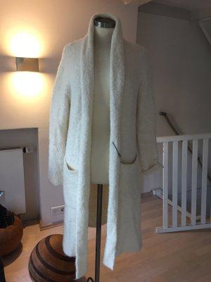 Maison Scotch Abrigo de lana blanco puro