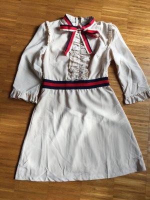 Mega schönes Kleid in nude/beige mit tollen Accessoires, Danity, Gr L 38 M