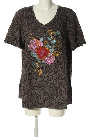 Ulla Popken T-Shirt multicolored cotton