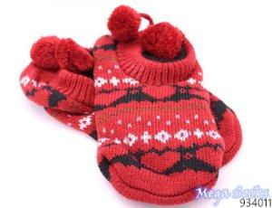 Botas de fieltro rojo ladrillo
