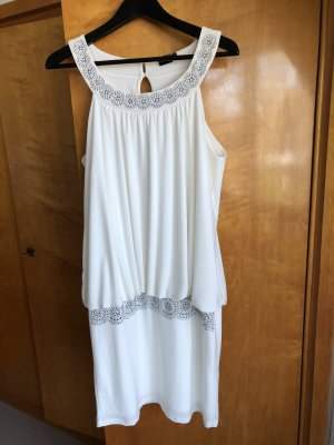 BODY FLIRT Sukienka koktajlowa w kolorze białej wełny-biały