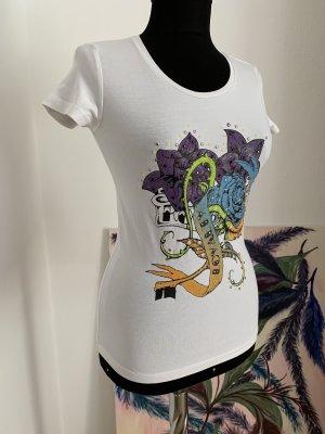 Mega weiches Shirt mit Ziersteine und Druckmotiv von Key Largo, XS/S