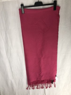 mega XXL schal in pink, übergroß, mit fransen
