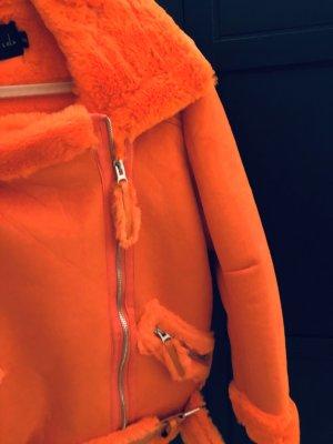 Story of Lola Chaqueta de piel sintética naranja