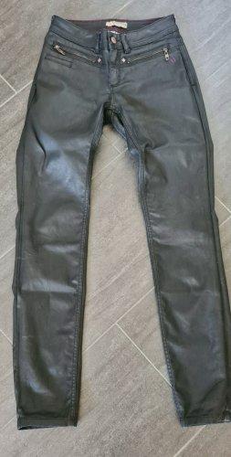 Comma Drainpipe Trousers black cotton