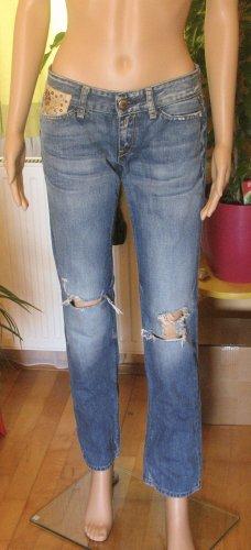 Replay Low Rise Jeans steel blue-cornflower blue cotton