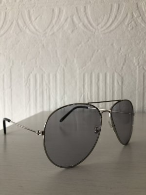 Asos Aviator Glasses silver-colored-grey