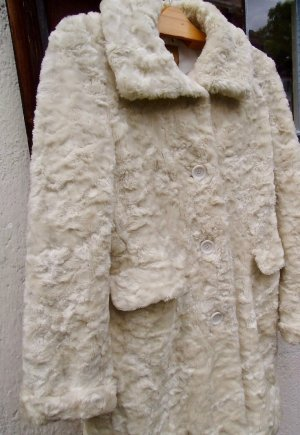 Center Coat Cappotto in eco pelliccia bianco-bianco sporco Tessuto misto