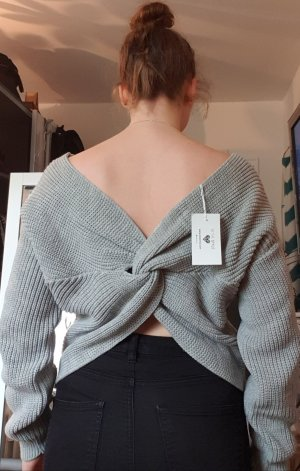 Meggan Grubb Sweater grey twisted back, 34/36