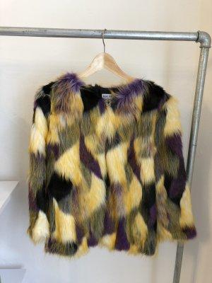 Mehrfarbige Fake Fur Jacke von Asos