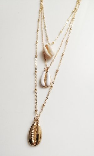 Shell Necklace gold-colored-cream
