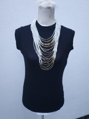 H&M Statement Necklace white-bronze-colored