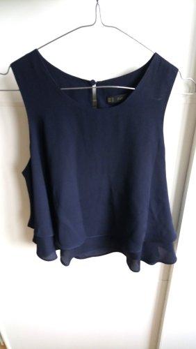 Zara Frill Top dark blue