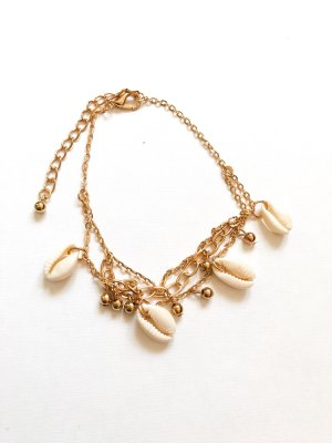 Anklet cream-gold-colored