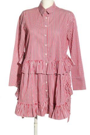 Mehtap Elaidi Hemdblusenkleid rot-weiß Streifenmuster Casual-Look