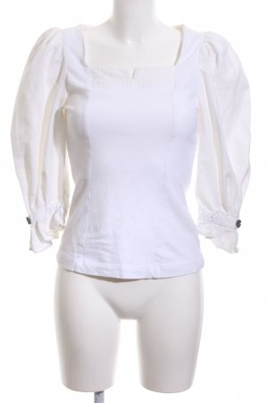 Meico Trachtenbluse weiß Casual-Look