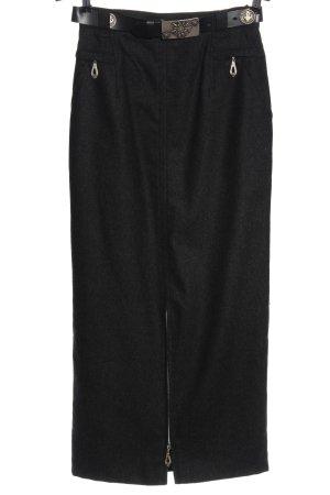 Meico Wool Skirt light grey flecked casual look